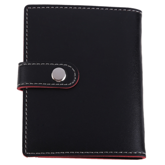 Black PU Leather Business Case Wallet Credit Card Holder Purse for 20 Cards - intl