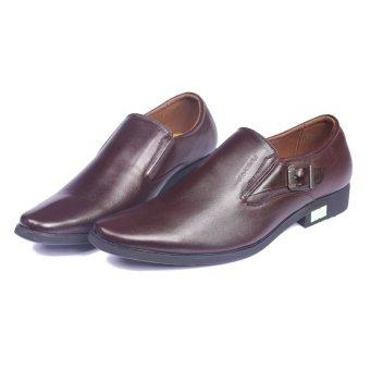 Giày lười công sở đế cao su có đai kim loại CS07