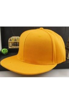 Moonar Unisex Cotton Baseball Cap Hip Hop Hat (Yellow)