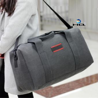 Túi du lich cỡ đại phối da phong cách Hàn Quốc 81TU40(đen)