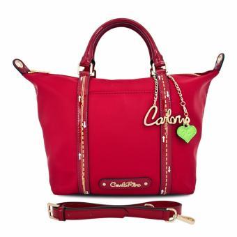 Túi tote cỡ trung lạ mắt Carlo Rino 0303293-002-04 (màu đỏ)
