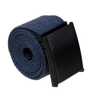 Unisex Webbing Canvas Belt Casual Waistband - Dark Gray - Intl
