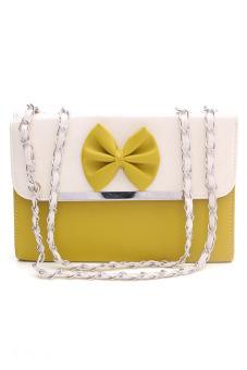 Túi đeo chéo hình hộp nơ xinh xắn Vinadeal A47 (Vàng)