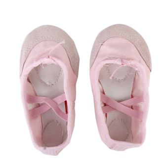 Canvas Ballet Dance Shoes Slippers for Toddler Girls US Size 6 1/2# 5 1/6 Inch (Pink) - Intl