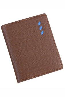 Bluelans Men's Faux Leather Bifold Wallet ID Card Holder Money Purse Vertical (Intl)