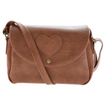 Túi đeo chéo nữ PAPA PPT002 (bò nhạt)