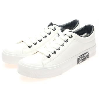 Giày sneaker thời trang nữ HNP GN001 (Trắng)