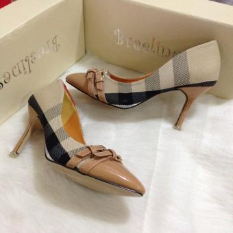 Giày cao gót kẻ bbr