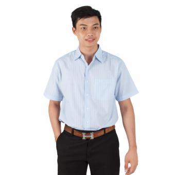 Áo Sơ Mi Nam Big Size Họa Tiết Sọc Xanh Xinh Store