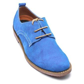 Giày da lộn nam LADA BASIC TN4-1 (Xanh)