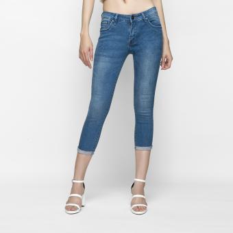 Quần Jeans Skinny Lửng Trơn