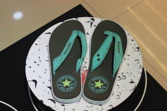 Dép thời trang Converse cao cấp 1NHS970 (Đen quai xanh ngọc)