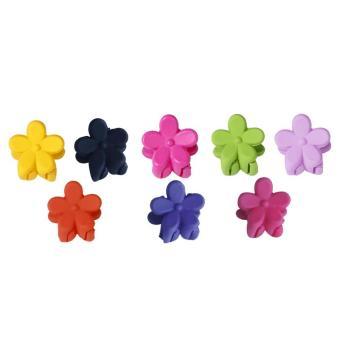 100Pcs Baby Kids Girls Mini Cute Pretty Flower Shape Hair Claw Jaw Clip Hair Pin Clamp Hairstyle Decoration Accessories Random Colors - intl