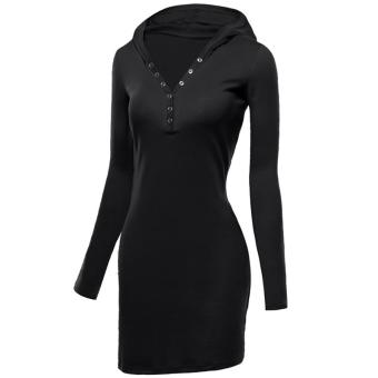 Fancyqube Tight Hip Slim Knitted Long-sleeve Dress - intl