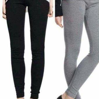 Bộ 2 quần legging nữ Navi (đen-xám nhạt)