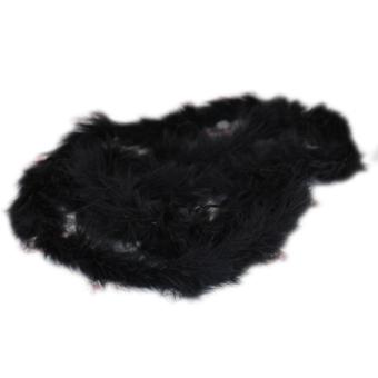 Six ft Marabou Feather Boa for Diva Night Tea Party Wedding - Black - Intl