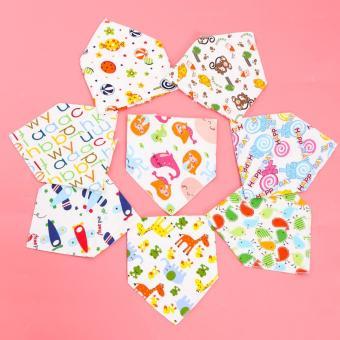 Bộ 08 khăn yếm tam giác 2 lớp chất cotton mềm mịn