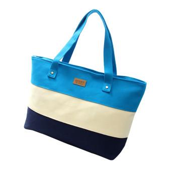 Women Canvas Handbags Shoulder Messenger Bags (Blue)