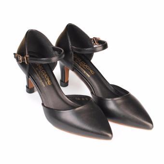Giày cao gót nữ gót nhọn 8cm HC1313 (Đen)