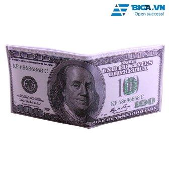 Ví Da Loại 1 Hình Dáng Tờ Tiền 100 Dollars USA2627