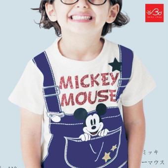 Áo thun bé trai Chuột Mickey xuất Nhật 90