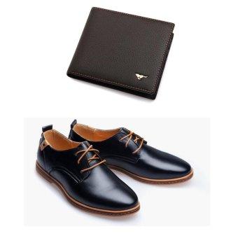 Bộ giày và ví da công sở thời trang DT6868
