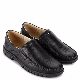 Giày Lười Nam Da Bò SunPoLo S812D (Đen)