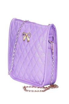 HKS Womens Handbag Shoulder Bags Tote Purse Leather Messenger Hobo Bag Purple - intl