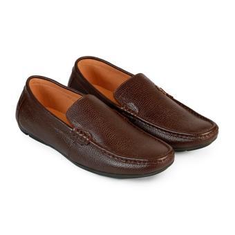 Giày Mọi Nam Da Bò Hùng Cường HC1215 (Nâu)