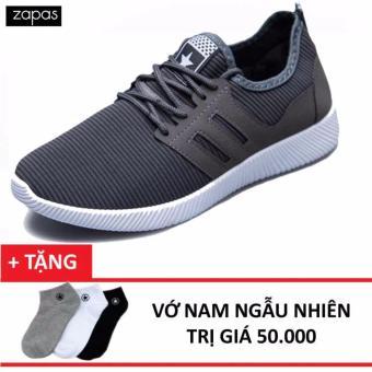 Giày Sneaker Thời Trang Nam Zapas GS068 ( Xám ) + Tặng Vớ- Hãng Phân Phối Chính Thức