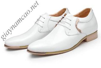 Giày tăng chiều cao nam GONY HQ6592 6.5cm (Trắng)