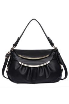 Túi xách tay nữ da thật Thành Long TLG T817-1 (đen)