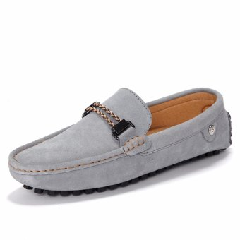 Jarma man's loafers slip-Ons shoes driving shoes male shoes flat moccasin Tods (Grey) - intl