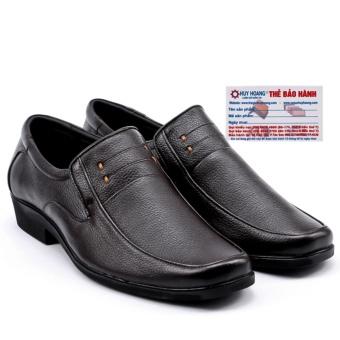 HL7110 - Giày da nam Huy Hoàng da bò màu đen