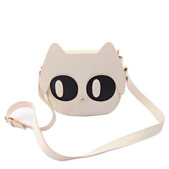 Big Eyes Cute Cartoon Shoulder Bag Messenger Bag White - Intl