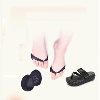Bộ 10 đệm lót giày bằng vải phối ren xỏ ngón Làm Đẹp (đen)