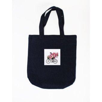 Túi tote in hình Floral Bicycle