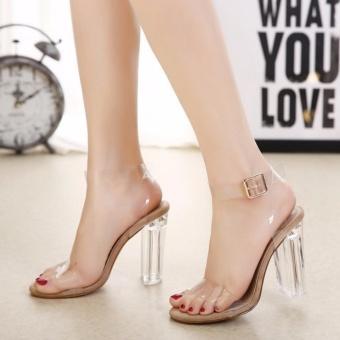 Giày cao gót quai trong gót trong suốt