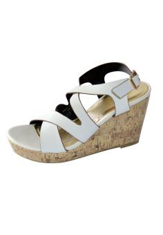 Giày cao gót LARA HMFG8010-1 (Trắng)
