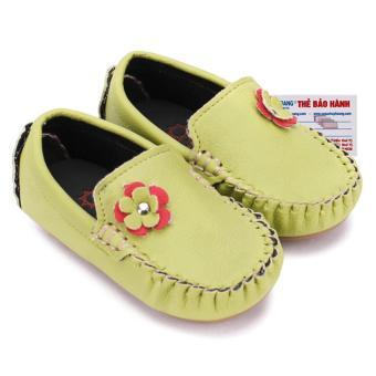 HL7852 - Giày KIDS Nữ Huy Hoàng màu xanh lá phối hoa