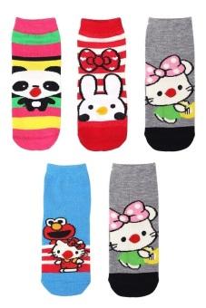 Bộ 5 đôi tất vớ trẻ em từ 5-8 tuổi bé gái SoYoung 5SOCKS 004 5T8 GIRL