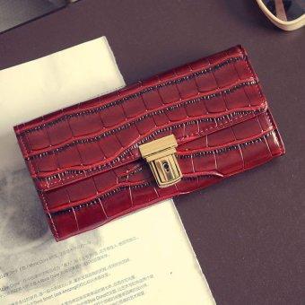 Women Clutch Long Purse Leather Wallet Card Holder Handbag Bags - intl