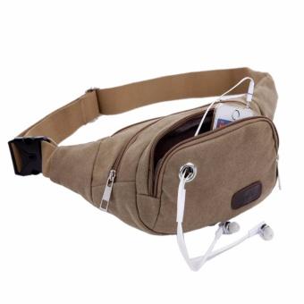 Túi đeo chéo, bụng để vật dụng nhỏ tiện dụng khi đi du lịch, thể thao(N184 NÂU)