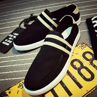 Giày lười vải nam ( đen )