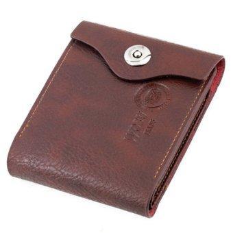 Men Bifold Wallet Brown Credit/ID Card Purse (Intl)
