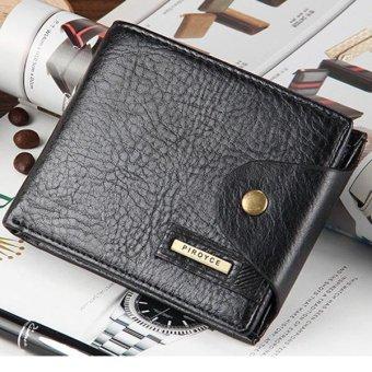 Men Purse Credit Card Holder PU Leather Wallet Gift Coin Pocket Brand Design Male Money Bag, Black - intl