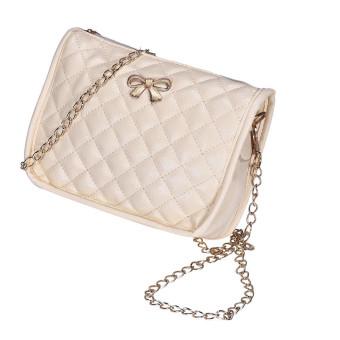 Womens Handbag Shoulder Bags Tote Purse Leather Messenger Hobo Bag Beige - Intl