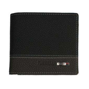 Leather Bifold Money Wallet Coin Purse Clutch Pockets Black - INTL