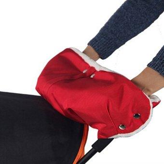 Bluelans Baby Stroller Gloves Waterproof Carriage Pram Hand Muff Buggy Glove Red (Intl)