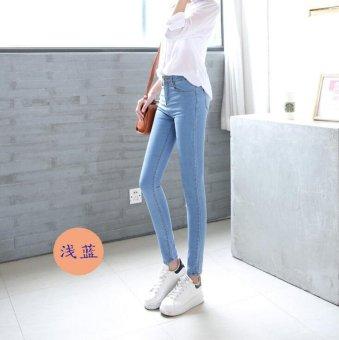 Women's Korean Style Jeans Elastic Highwaist Jeans - intl